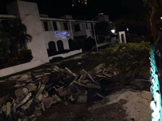 Cycle path destroyed (Photo: Cancun News MX)