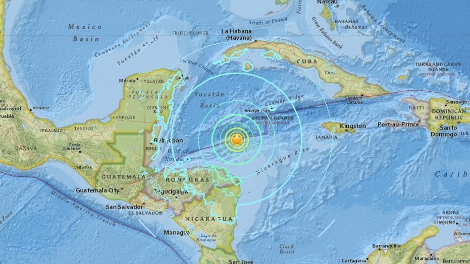 Little damage as mag 7.6 quake hits in sea north of Honduras