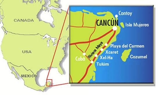 Mapa Mexico Riviera Maya.Cancun Tulum Train Myth Or Truth The Riviera Maya Times
