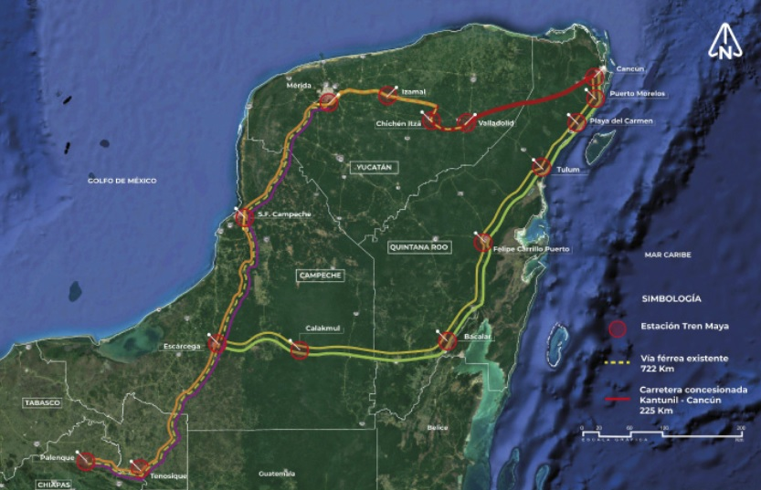 Residents of Campeche express their rejection for the Maya